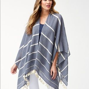 NWT Tommy Bahama Chambray Striped Wrap